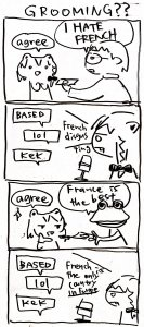 Rating: Safe / Score: 0 / Tags: beatani beatani_(artist) comic fang french frog grooming money / User: Andrew